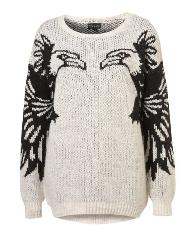 Topshop.com  Knitted Mirror Eagle Jumper  £55.00