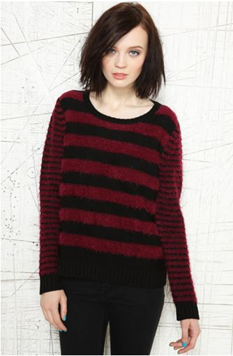 UrbanOutfitters.com  Cooperative Striped Eyelash Jumper  Was £45.00 Now £22.00