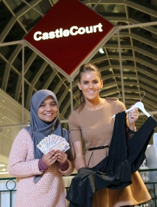 It's a winning streak for CastleCourt shoppers Fairuz Farhanan Binti Muhammas Mahdi and Caroline McKee