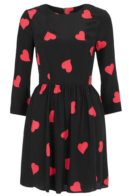 Long Sleeve Heart Flippy Dress £40.00  Topshop.com