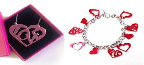 Love Pendant £22.00 Love Charm Bracelet £30 Pluckanddevour.com