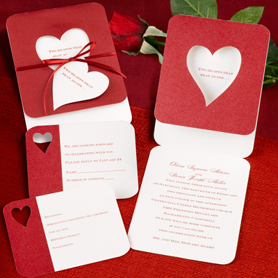 valentines, wedding, invites