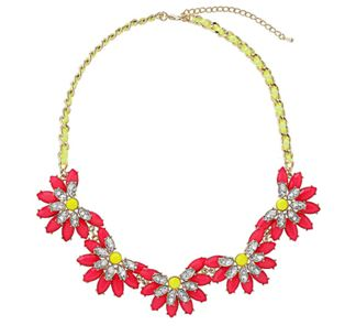 Topshop.com  Neon Flower Collar  Price: £28.00