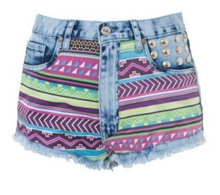 Newlook.com  bambam Neon Aztec Print Shorts  Was £49.99 Now £44.99