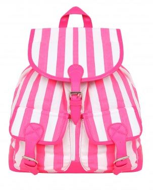 Misguided.co.uk  Arbre Striped Backpack in Pink  £22.99