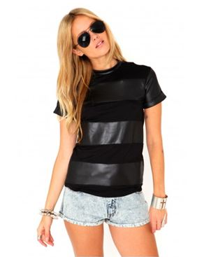 Taiga Wet Look Panel Tee  http://www.missguided.co.uk  £15.99