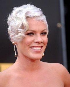 Pink! Platinum Blonde Hair Style