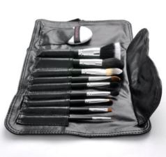 10 piece professional makeup brush set by beauty boxes