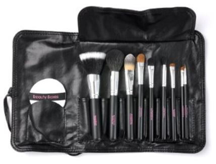 10 piece makeup brush set by beauty-boxes.com