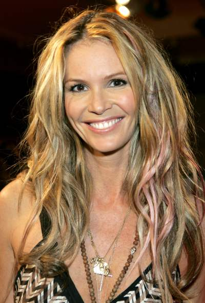 Elle MacPherson with texturised summer hair