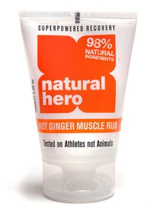 Natural Hero hot ginger muscle rub fitness advice