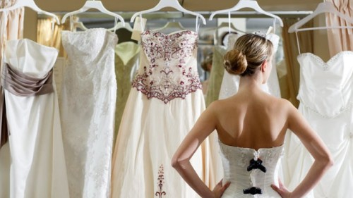 Finding the perfect wedding dress, the one
