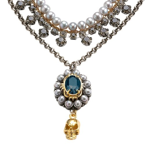 Sapphire, Pearl, Mawi London, statement necklaces by Mawi