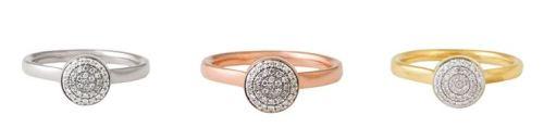 Monica Vinader Ring diamond, gold, silver, gold Monica Vinader jewellery