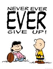Charlie Brown Never Give Up