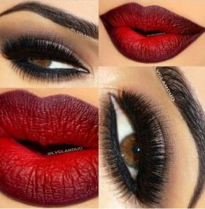 ombre lips, valentines day, makeup, beauty