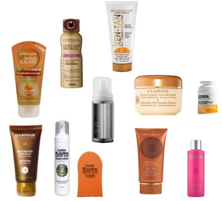 Tanning products: Mousse, gel, spray, wipes, cream