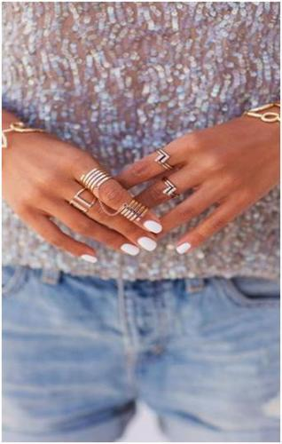 Mani's & pedi's are staying white hot this summer