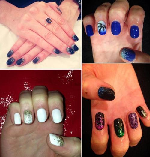 Glitter Fade Nails, The Nail Room, Studio 75, Bangor