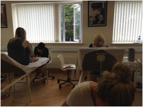 Workshop in action at ASU Beauty Training Academy