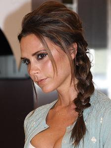 Victoria Beckham side braid