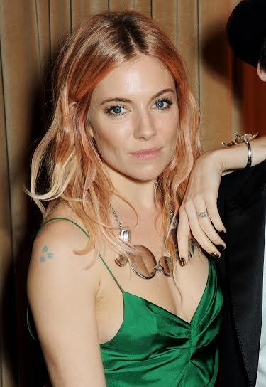 Sienna Miller Rose Gold Hair