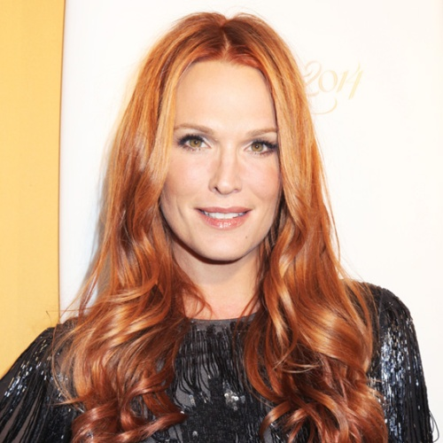 Molly Sims Rose Gold Hair