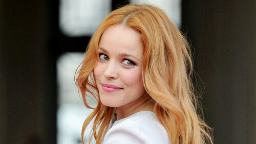 Rachel McAdams Rose Gold Hair