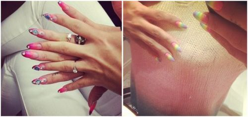 Lilly Allen, Ombre Fade Nails